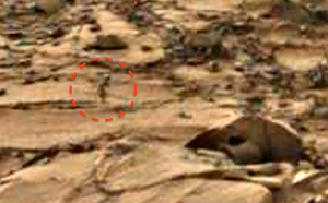 Mars rover photo shows alien figure