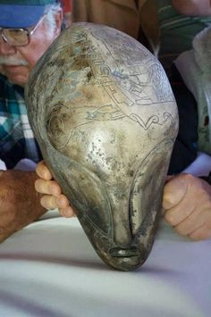 MezoAmerica  Alien Skull carved out of ston