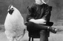 Most Unusual Picture Smoking Child with Chicken